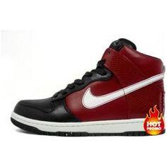 new styles fa7fe 76d56 Mens Nike Dunk High Supreme 2008 Varsity Red White Black