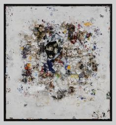 Recipe For A Painter: Michael Chow Aka Zhou Yinghua ~O-O~ My Heart Belongs To Dada I (2013) Mixed media: household paint with precious metals and trash 182.88 x 167.64 cm (72 x 66 in.)