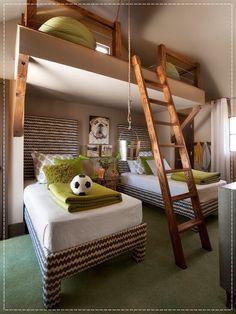 """Boa noite decoradores! O destaque de hj vai p o blog Decorando com Classe e os belos """"Quarto de dormir e brincar!""""-> http://www.blogsdecor.com/decorandocomclasse/quarto-de-dormir-e-brincar/ #decor #decoracion #decoracao #crianca #kids #room #bedroom #criancas #menino"""