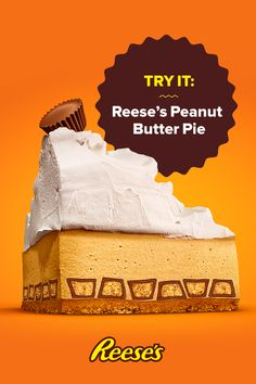 Calling all peanut butter lovers: this one's for you. Find out how to make this and other REESE'S Peanut Butter Cup recipes this holiday season by tapping the Pin. Reese Peanut Butter Pie, Peanut Butter Recipes, Just Desserts, Delicious Desserts, Yummy Food, Pie Dessert, Dessert Recipes, Christmas Desserts, Christmas Holiday