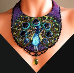 Dreaming of a Peacock Bead Embroidered von LuxVivensFashion