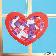 tissue paper heart craft