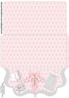 Girls christening clutch bag wallet on Craftsuprint designed by Stephen Poore -