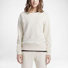 Converse Essentials Sportswear Crew Women's Sweatshirt Size Medium (Cream)