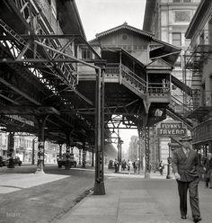 Under the El. New York, 1942. ByMarjory Collins