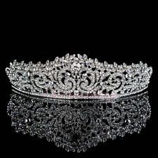 Elegant Crystal Tiara Wedding Bridal Floret Diamante Crown Headpiec Hair Jewelry
