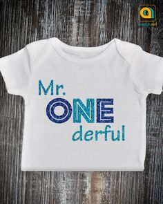 Mr Onederful Outfit 1st Birthday Baby Boy Onesie One Year Old Cake Smash Shirt