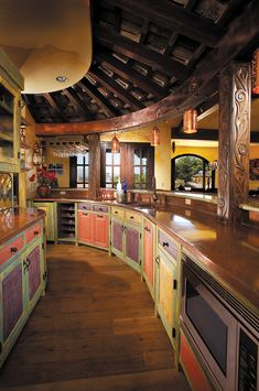Custom Bar Cabinets by La Puerta Originals Rustic Kitchen Cabinets, Farmhouse Style Kitchen, Bar Cabinets, Built In Wine Rack, Winery Tasting Room, Solid Wood Kitchens, Kitchen Installation, Construction, Custom Cabinetry