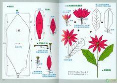 Flores de papel crepe (con tutorial y moldes) en el Foro de Manualidades