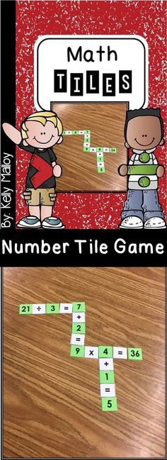 math game, math center Math Tiles Crossword style game to get your students thinking about number relationships. Your students will have fun while they build skills in arithmetic, cooperative play, sequential thought, and focus & attention. Math Resources, Math Activities, Math Test Games, Student Learning, Teaching Math, Cooperative Learning, Problem Solving Skills, Math Skills, Math Class