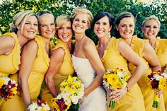 LOVE yellow! Spring wedding!