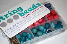 DIY dye your own beads for a stringing set...might be good for travel idea