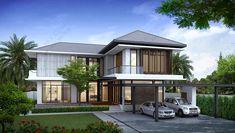 พื้นที่ใช้สอย : 456 ตร.ม. แบบบ้านสไตล์ :Tropical Style สถานที่ก่อสร้าง : อ.เมือง จ.กระบี่ ประเภทอาคาร : บ้านพักอาศัย 2 ชั้น