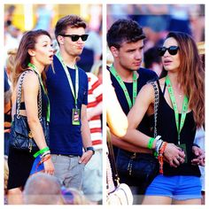 Liam and Danielle sharing sunglasses, precious. I want a Liam.