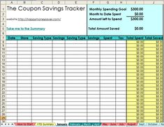 The Coupon Savings Tracker Spreadsheet -- free to download