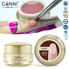 1PC 15ml CANNI Natural Nude Pastel Color UV Builder Gel Camouflage UV Gel Acrylic for Nail Art False Tips Extension 25 Colors