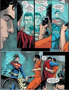 Injustice Gods Among Us Superman dreams about batman being in jail for killing joker. Batman Vs Superman, Arte Dc Comics, Marvel Comics, Comic Movies, Comic Books Art, Personnage Dc Comics, Caricature, Comics Love, Dc Memes