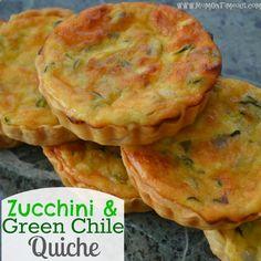 Mom On Timeout: Zucchini & Green Chile Quiche {Recipe}