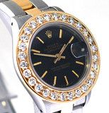 Rolex Datejust Ladies Two Tone Greenish MOP String Diamond Dial Sapphi | Limited Watches | Buy New & Used Rolex Watches