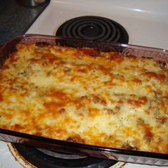 """French-Style Lasagna   """"I learned how to make lasagna this way when I worked in France. What makes it French-style is the use of a bechamel (white sauce) instead of ricotta, and Swiss (traditionally Emmental) cheese. Full of great flavor! I always get compliments."""""""
