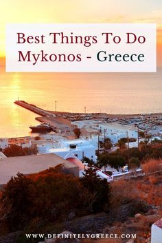 What to do in Mykonos! Without a doubt Mykonos is one of the most famous Greek islands. World-known for the cosmopolitan Mykonian Chora, and nightlife! Click through to watch.   #DefinitelyGreece #MykonosGreece #GreekIslands #GreekHolidays Amazing Destinations, Holiday Destinations, Travel Destinations, Mykonos Island, Mykonos Greece, Stuff To Do, Things To Do, Good Things, Big Challenge