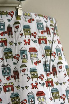 Fox in the Henhouse from Monaluna's ORGANIC Anika by SewFineFabric, $16.00  Love this fabric!