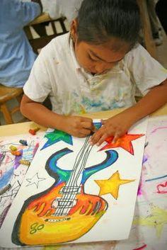 big paintings, color wheel, guitars, tempera paint Source by kbkonnected Art Education Lessons, Art Lessons Elementary, Kids Art Class, Art For Kids, 2nd Grade Art, School Art Projects, Middle School Art, Art Lesson Plans, Art Classroom