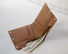 Mens Washable Kraft Paper Wallet handmade wallet Thin Slim