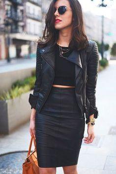 5 Outfits con chaqueta de cuero que toda mujer debería llevar | SocialShow