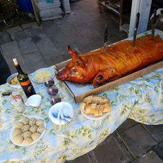 Whole roasted pig II . . . #meat #pig #whole #roasted #roast #roasting #birthdayparty #vietnamese #homecooking #birthday #party #one #houston #ighouston #enjoylife #foodies #foodstagram #foodphotography #instafood #yum #nomnom