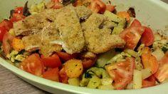 Insalatona di pollo con verdure al forno