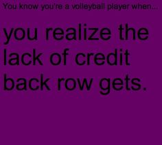 You know you're a volleyball when...