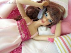 Chemise de nuit dentelle Barbie   Miss B. Couture