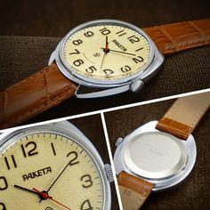 Raketa Oversized Soviet Pilot Style Dress Watch от BestVintage4You