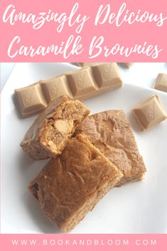 Amazingly Delicious Caramilk Brownies. So good, you won't be able to stop at just one slice!