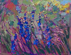 Blooms in Color - Contemporary Impressionism Art Gallery in San Diego - Modern Landscape Oil Paintings for Sale by Erin Hanson