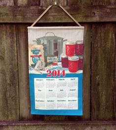 Need a last-minute teacher or office present? Our hand illustrated calendar towel provides a simple way to give a handmade gift that's beautiful, useful and unique.   2014 Calendar Towel  One More Batch by RichardCreative on Etsy, $15.95-25.95