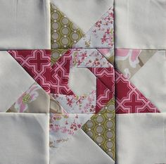like it patchwork, star block, sew, block quilt patterns, spin star, stars, star quilts, quilt blocks, pink bee