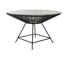 Replica Acapulco Dining Table Black -- The Acapulco dining table was first manufactured in Mexico Circa 1950. Perfect for my small patio...too bad it ships from Australia and costs $495!