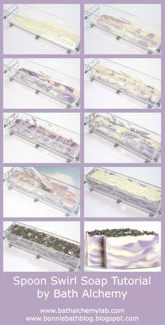 Soap Blog: Spoon Swirl Lavender Soap Tutorial