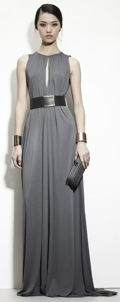 Grey can be incredibly bland or incredibly beautiful. It's the latter here. (Bottega Veneta | Pre-Fall 2013)