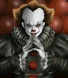 IT . Joker Clown, Pennywise The Dancing Clown, Evil Clowns, Scary Clowns, Creepy, Arte Horror, Horror Art, Scary Movies, Horror Movies