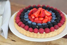 Com uma pitada de açúcar...: Torta de Frutas Vermelhas e Mel
