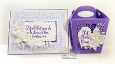 Our Daily Bread Designs Stamp Set: Let Love Grow, Custom Dies:Glorious Gable Box Die, Layering Hearts, Mini Label, Bitty Blossoms, Leaves and Branches, Filigree Frames, Pierced Rectangles, Rectangles