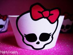 Monster High Cupcake Wrappers {Free Printable}