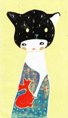 déguisée en chat by Audrey Jeanne