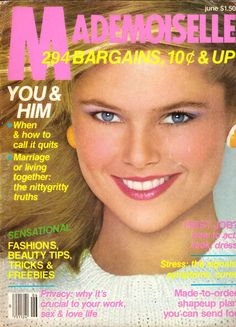 Mademoiselle Vintage Fashion Magazine Jun 1980 Christie Brinkley Nancy Donahue Carol Alt Joyce Carol Oates Sherry Lansing Pam Dawber Ads by on Etsy Christie Brinkley Young, 1980 Makeup, Mademoiselle Magazine, Carol Alt, Janice Dickinson, Joyce Carol Oates, First Job, Cheryl Ladd, Glamour Magazine