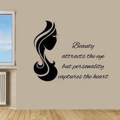 Word Wall Decor, Wall Art Decor, Gym Decor, Vinyl Wall Art, Wall Decals, Vinyl Decals, Home Hair Salons, Beauty Salon Decor, Beauty Salons