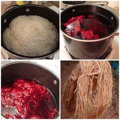 AwareKnits' Natural Dyeing Recipe  -  how to dye yarns with natural dyes such as beets, rose petals, tumeric, coffee, etc.