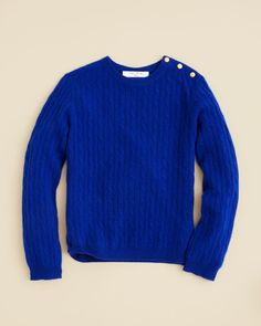 Brooks Brothers Girls' Cashmere Cable Knit Sweater - Sizes Xs-xl